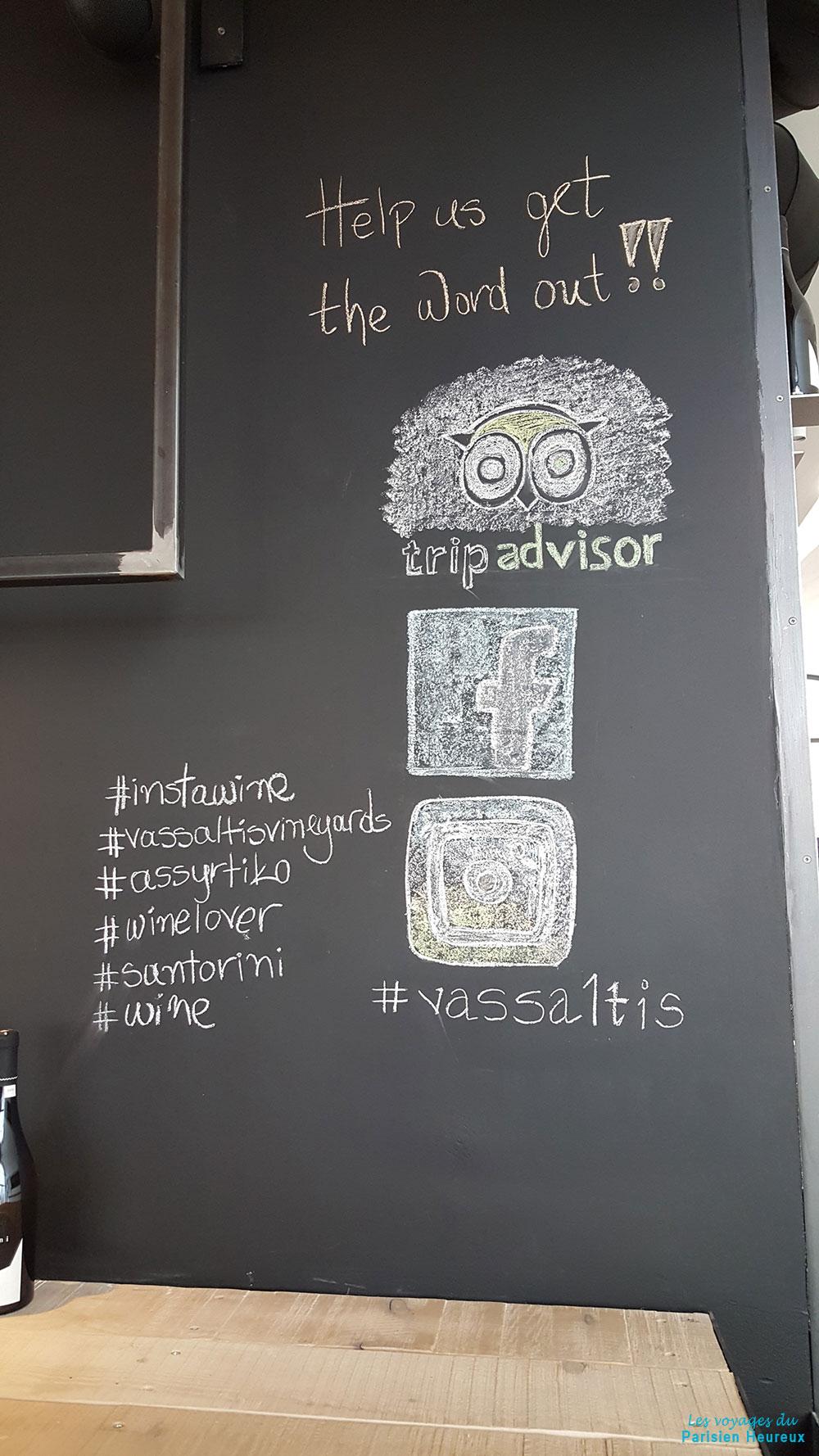 Vassaltis Vineyards est sur les réseaux sociaux