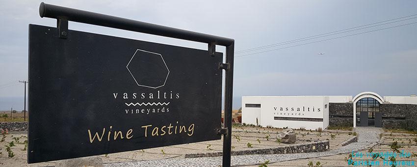 Dégustation des vins de Santorin
