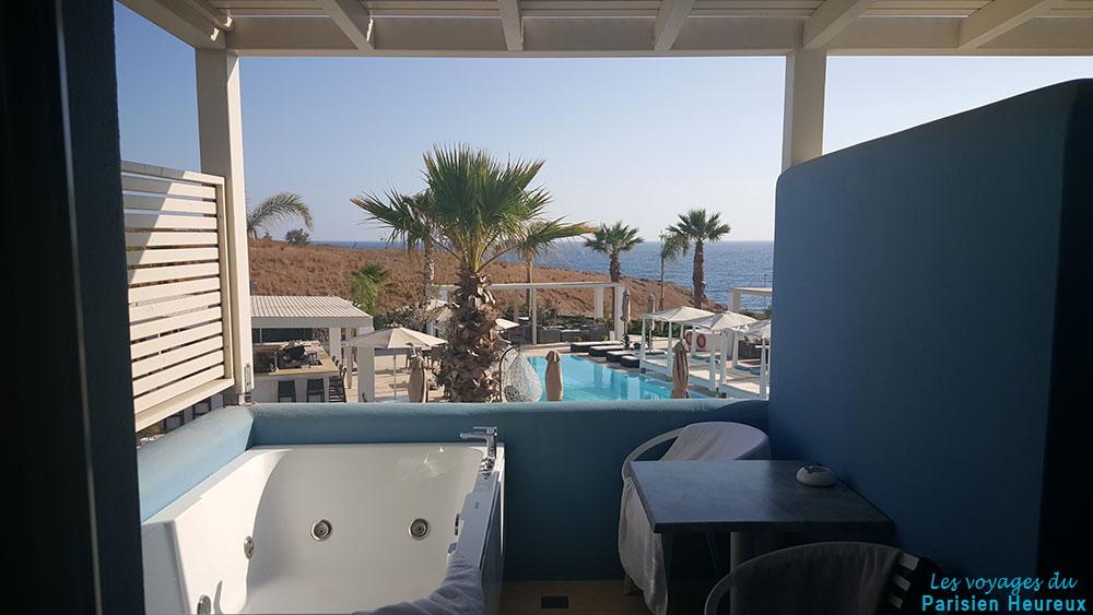Chambre de l'hôtel Aurora Luxury Hotel & Spa à Santorin