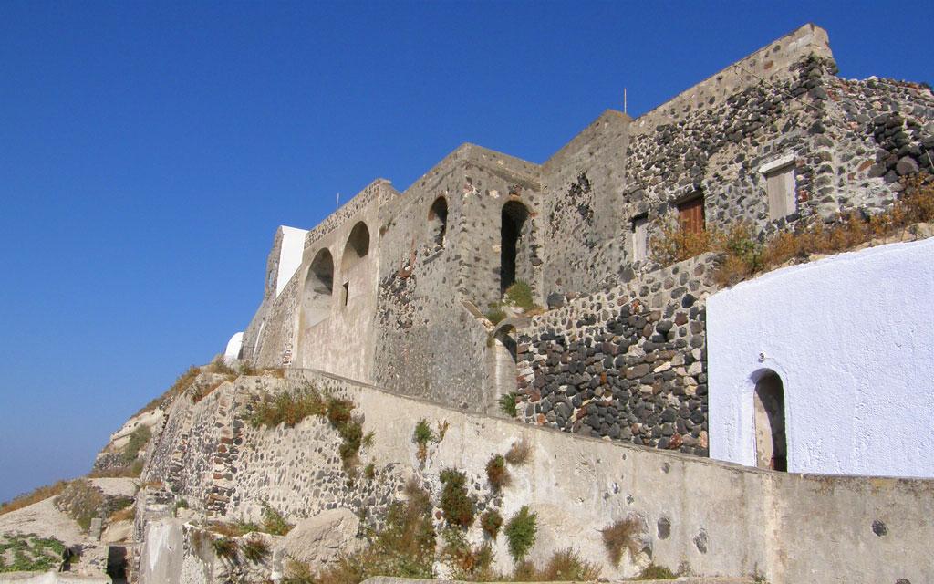 Le château Kasteli à Pyrgos, Santorin
