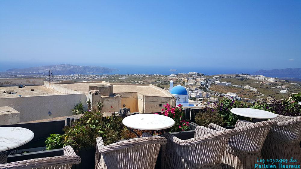 Café Franco à Pyrgos, Santorin
