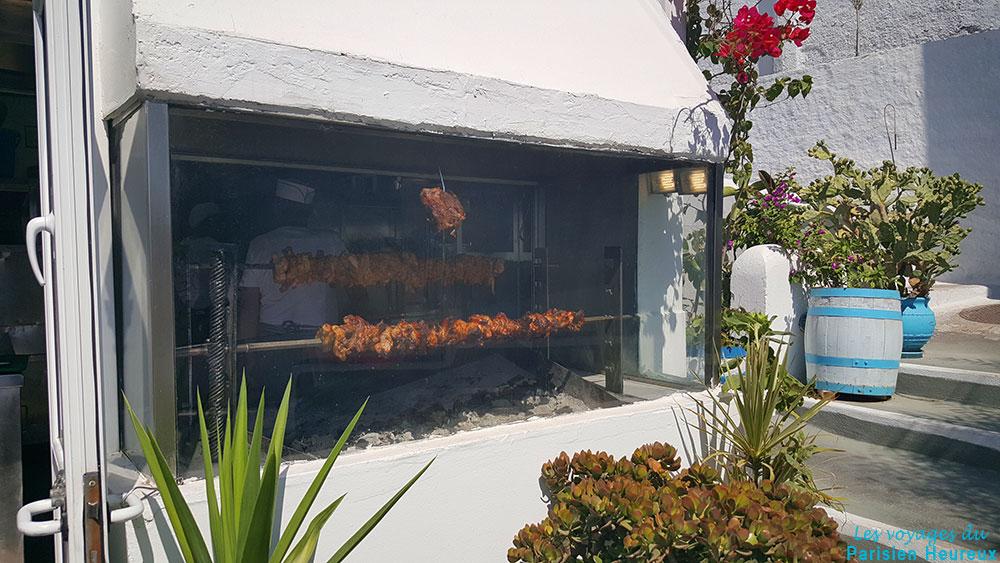 Le restaurant Kallisti Taverna à Pyrgos, Santorin