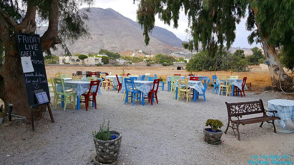 Restaurant à Kamari à Santorin