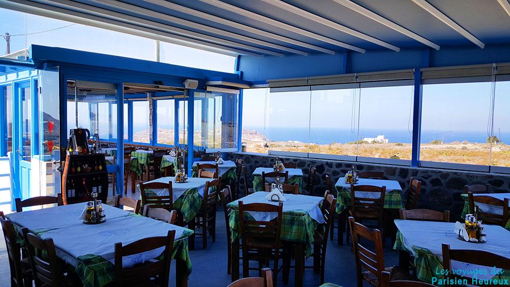 Restaurant The Good Heart à Akrotiri à Santorin