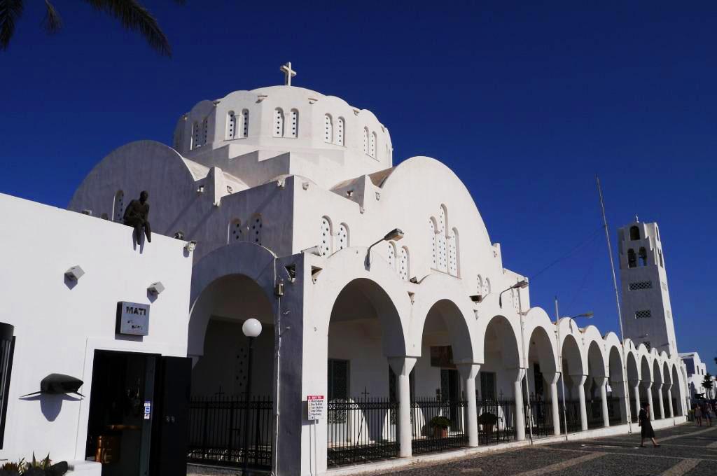 La Cathédrale Métropolitaine Orthodoxe à Fira