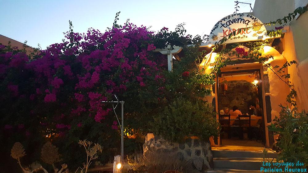 Kapari Taverna resto à Fira
