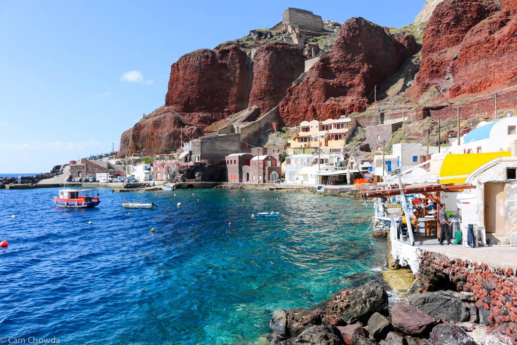 Le port d'Ammoudi à Oia