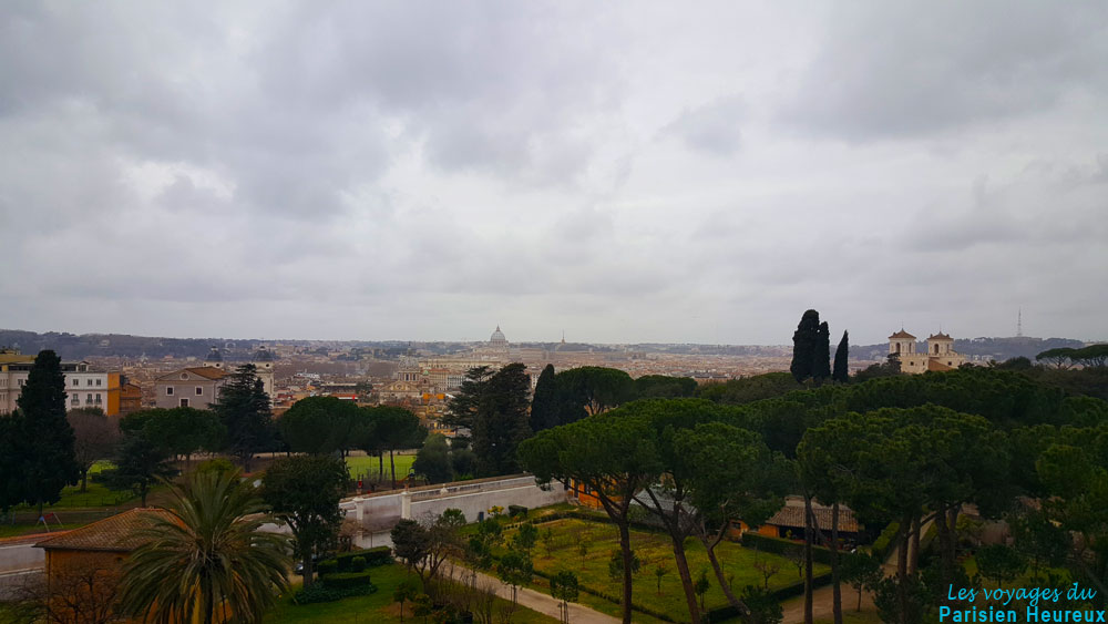 Toit de l'hôtel Sofitel Villa Borghese de Rome