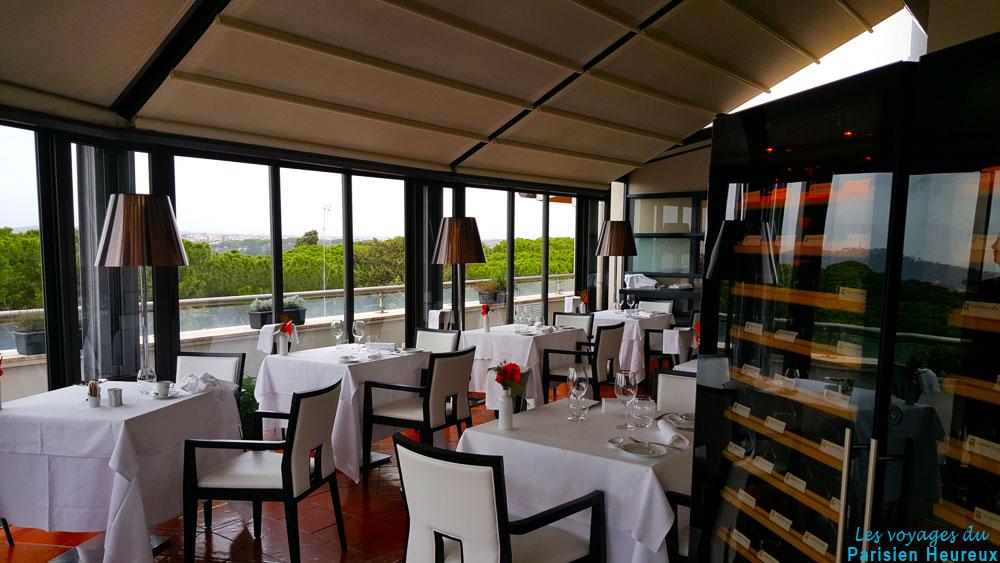 Restaurant (roof top) de l'hôtel Sofitel Villa Borghese de Rome