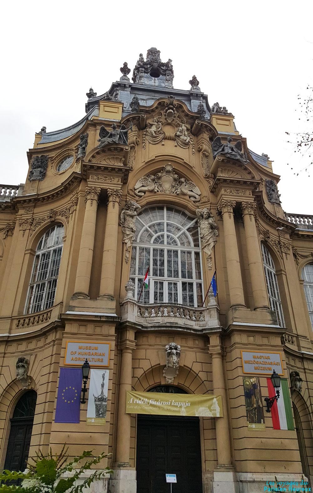 Entré du musée hongrois de l'agriculture à Budapest