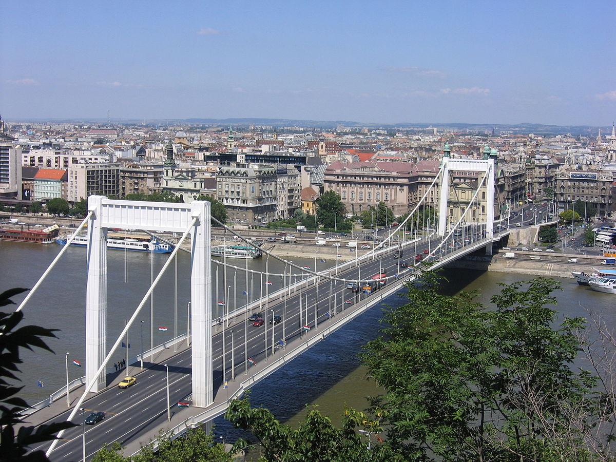 Le pont Élisabeth à Budapest