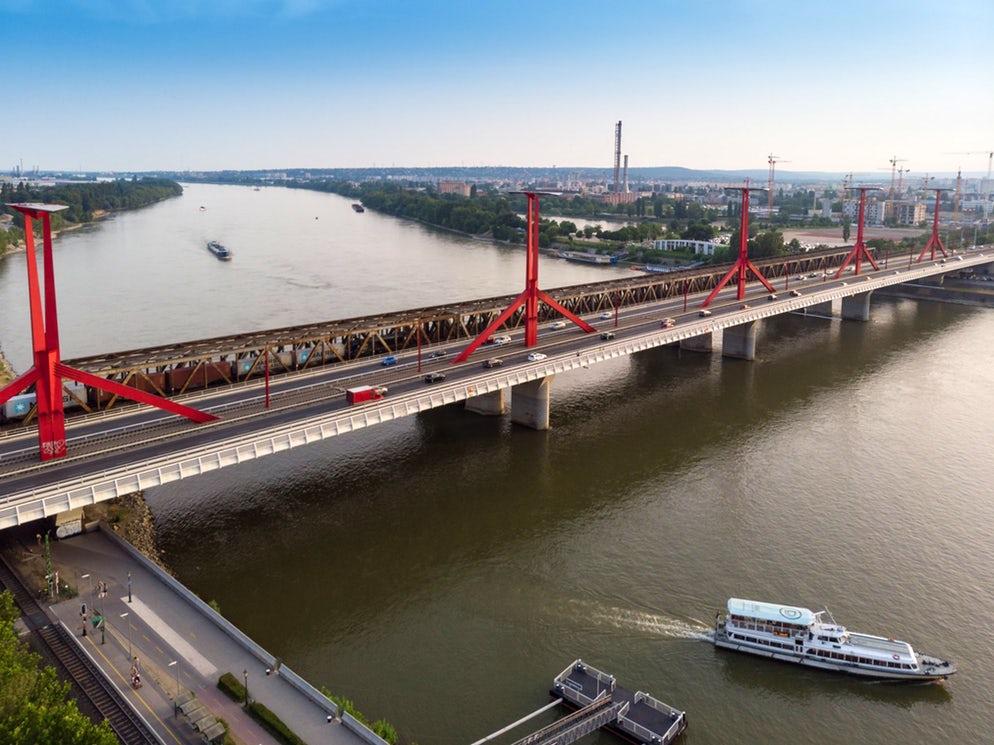 Le pont de Rakoczi à Budapest