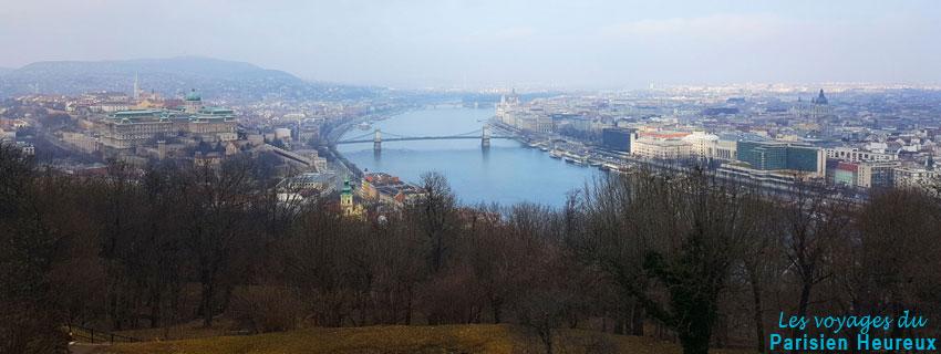 Vue sur Budapest du Mont Gellért