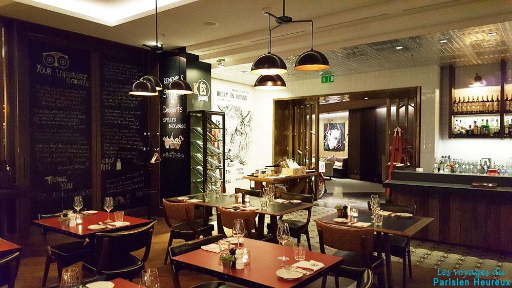 Le restaurant ÉS Bisztró à Budapest en Hongrie
