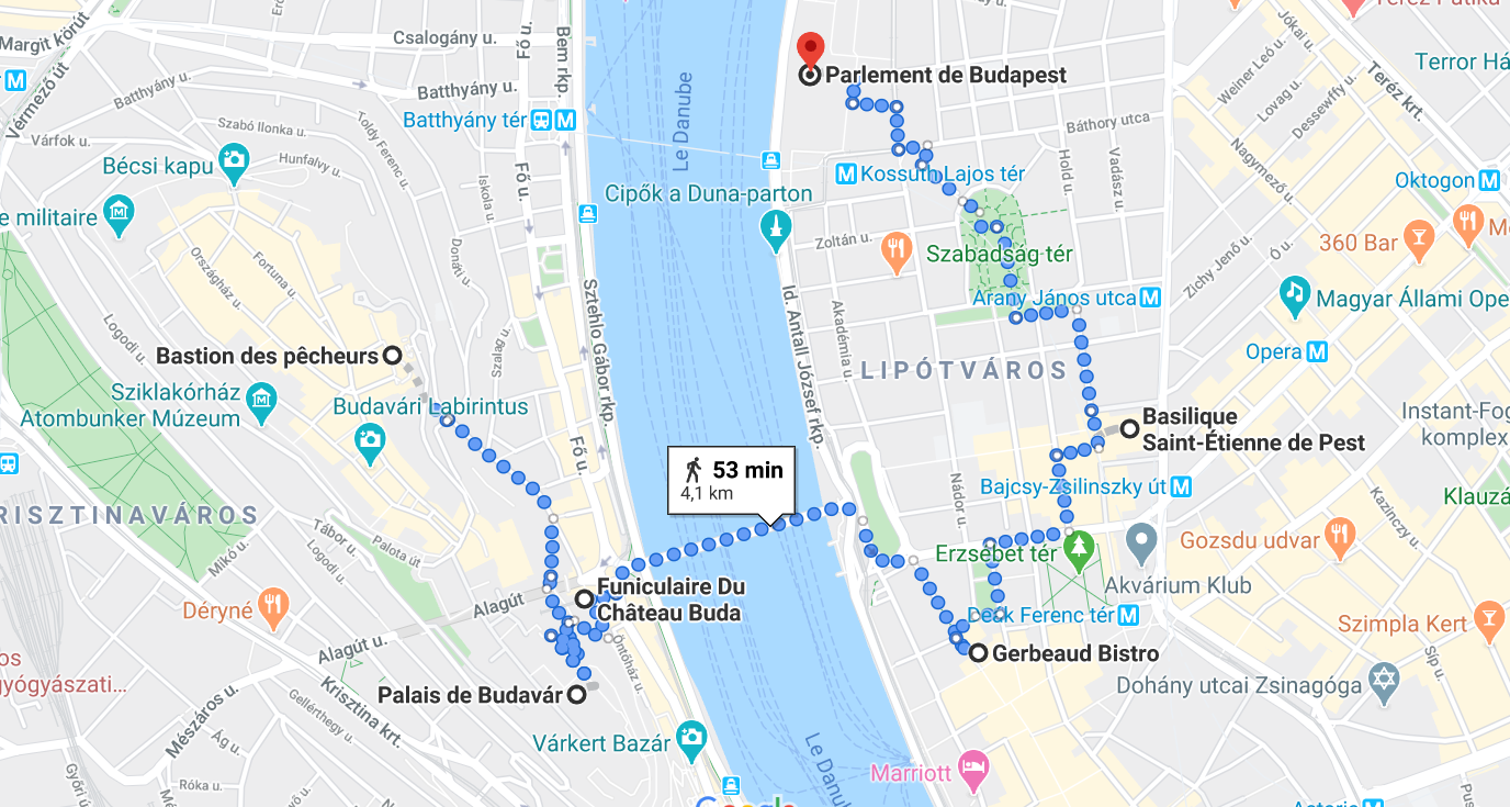 Itinéraire 1 Budapest
