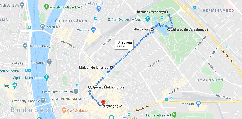 Itinéraire 2 Budapest