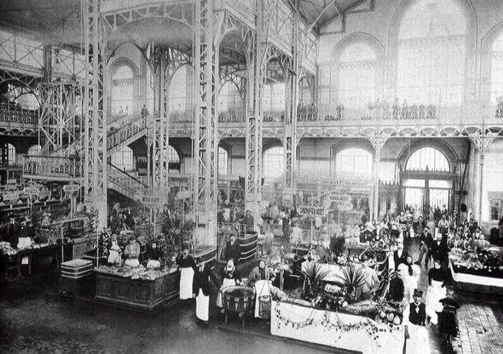 Le marché central de Budapest en 1897
