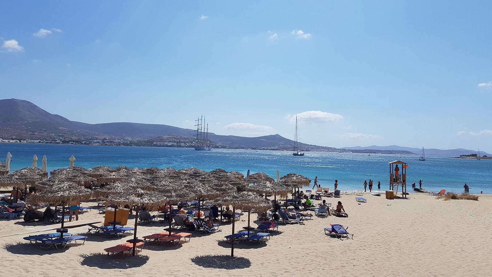 Les plages de Marcello (ou Martselo) et Krios à Paros