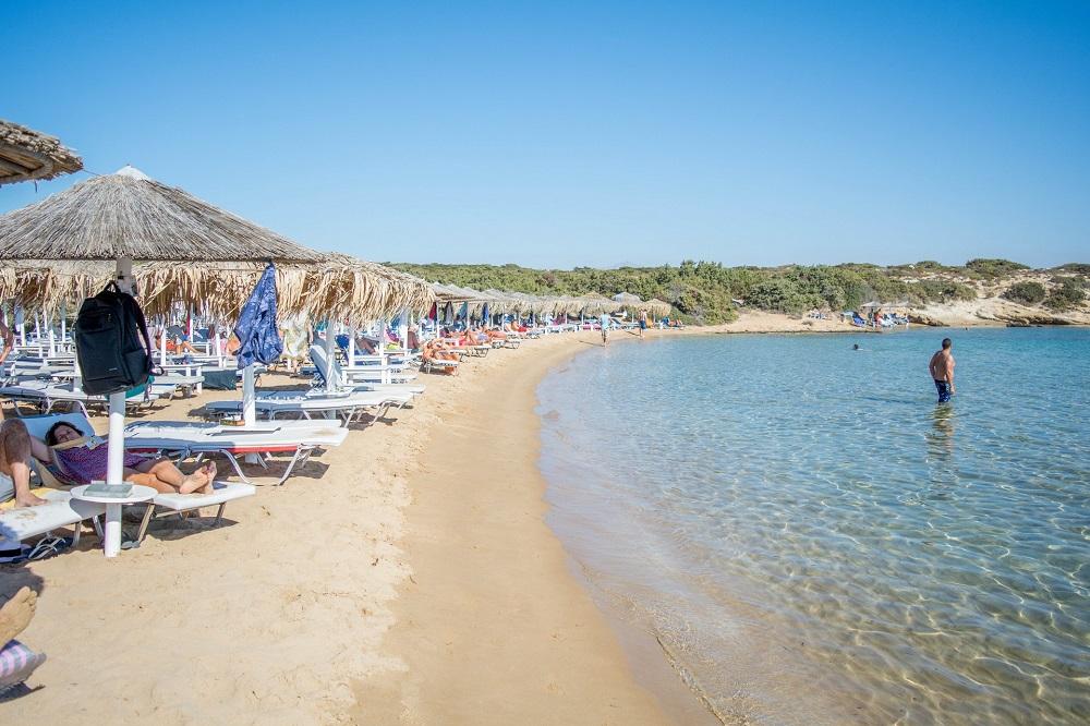 La plage Santa Maria à Paros