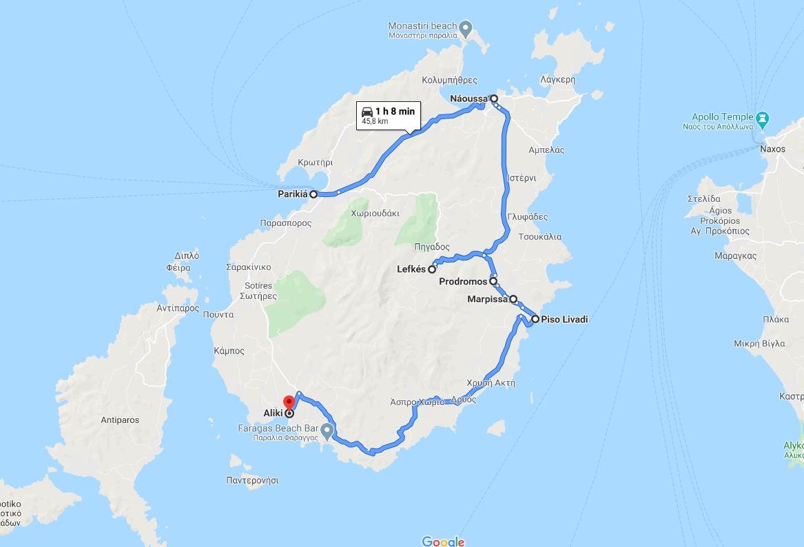Les villes à visiter sur l'île de Paros