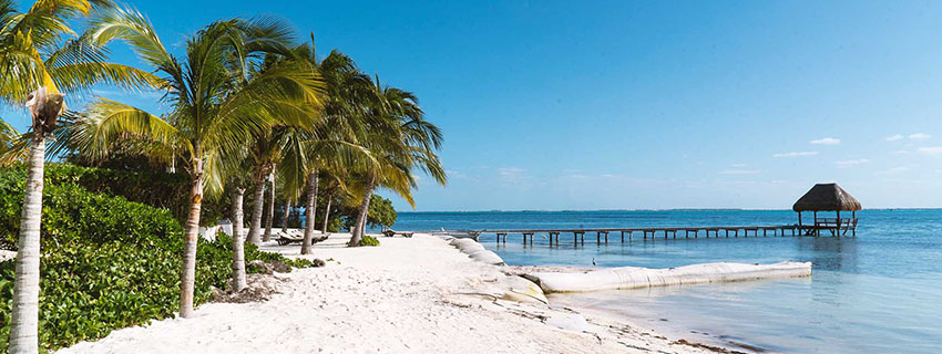 Plage paradisiaque à Isla Mujeres au Mexiqu