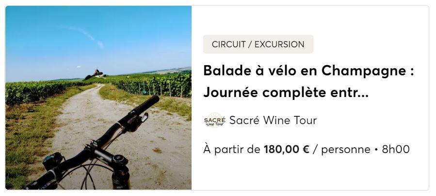 Balade en vélo dans le vignoble de la Champagne